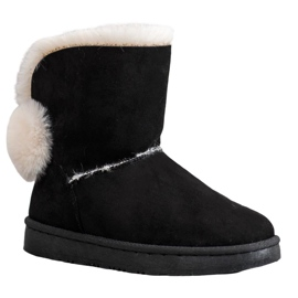 SHELOVET Warm Suede Mukluki black