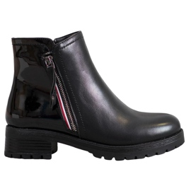 SHELOVET Workers With Decorative Zipper black