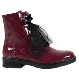 SHELOVET Patent Leather Workers red