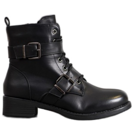 SHELOVET Warm Workers With Buckles black