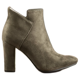 VINCEZA Sexy Suede Boots green