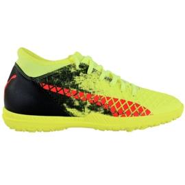 Puma Future 18.4 Tt M 104339 01 football shoes black, green, orange yellow