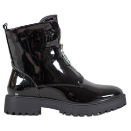 SHELOVET Patent Leather Workers black