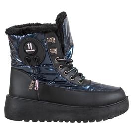 Bella Paris Fashionable Snow Boots blue