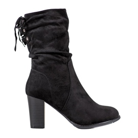 J. Star High Black Boots