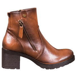 SHELOVET Ankle boots brown