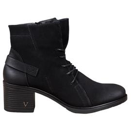 VINCEZA Lace-up Ankle Boots black