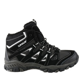 Black solid 6282 men's hiking boots