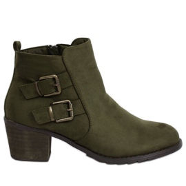 Green High heels boots K1809305 Khaki