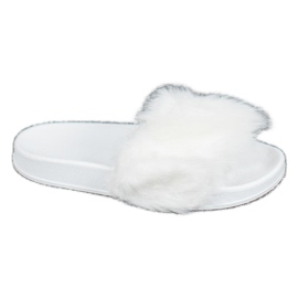 SHELOVET Rubber Slippers With Fur white