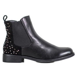 J. Star Boots With crystals black