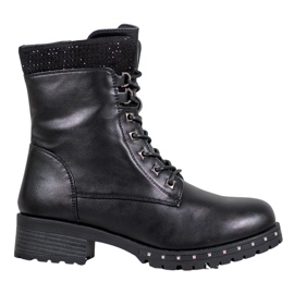 J. Star High Boots With Rhinestones black