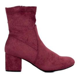 J. Star Classic Burgundy Boots red
