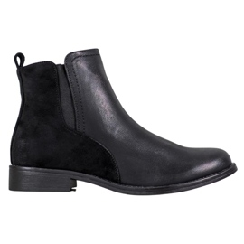 J. Star Elegant Black Ankle Boots
