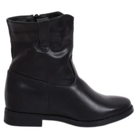 Gecko black G-7607 Black wedge-shaped ankle boots