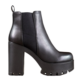 Seastar Fashionable Boots On The Platform black