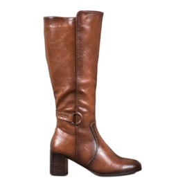 Boots with VINCEZA buckle brown