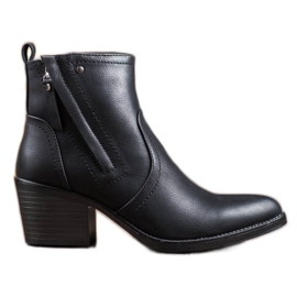 J. Star Comfortable Ankle Boots black