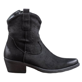 Seastar Warm High Heels Cowboy Boots black