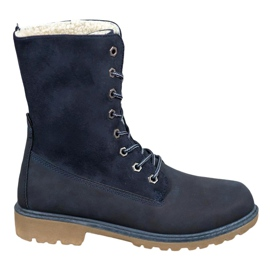 Super Me Lace-up boots blue