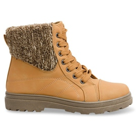 Timberki Boots with a sheepskin 368 Camel brown