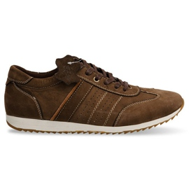 Shoes Sneakers Leather NAT. N45 Brown