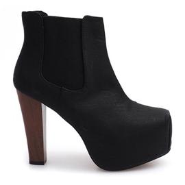 Boots Solid Heels K823 Black