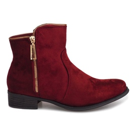 Suede Boots Jodhpur boots 8H8586 Burgundy red