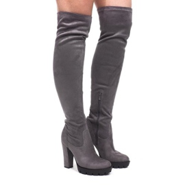 Extra High Boots on the post CD106 Gray grey