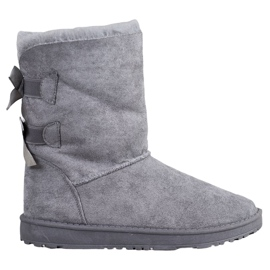 Haver Warm Snow Boots With Bows grey