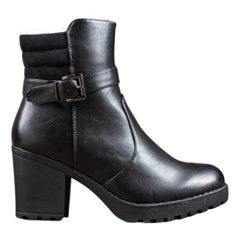 J. Star Comfortable boots made of eco leather black