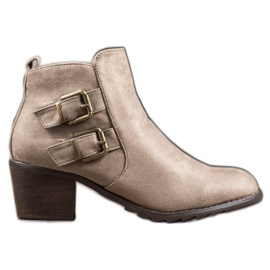 Kylie Comfortable Boots With Buckles brown