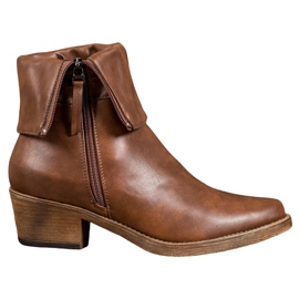 Kylie Cowboy Boots With Roll-up Upper brown