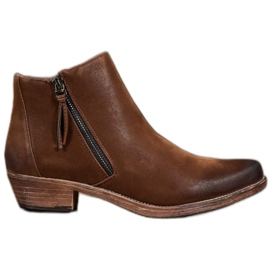 Kylie Cowboy Boots With Zipper brown