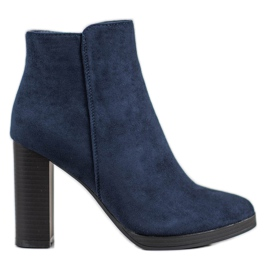Ideal Shoes Classic High Heels blue