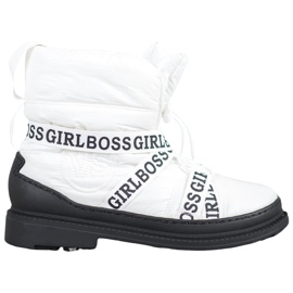 Vices Girl Boss snow boots white