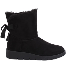 Black Women's snow boots A-3 Black