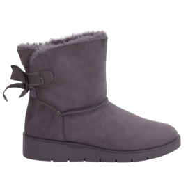 Gray Women's snow boots A-3 Gray grey