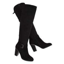 Black High heels boots 1105-GG Black