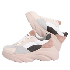 NH-31 Beige sports shoes multicolored