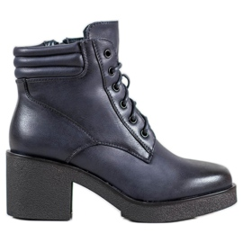 Super Mode Comfortable boots made of eco leather blue