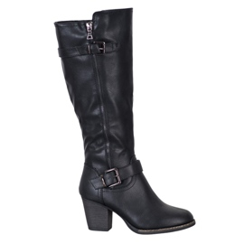 J. Star Comfortable boots with a buckle black
