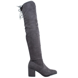 SHELOVET Comfortable High Heels grey