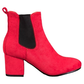 Bestelle Slip-on Ankle Boots red