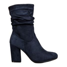 Kayla High Boots On A Post blue