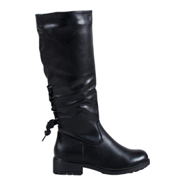 J. Star Lace-up boots black