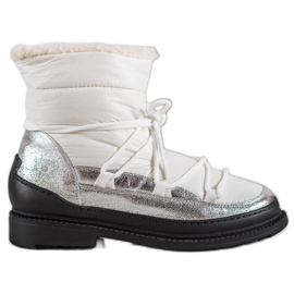 Textile Snow Boots VICES white