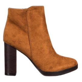 Super Me Fashionable Suede Boots brown