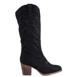 Abloom Cowboy boots black