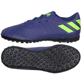 Adidas Nemeziz Messi 19.4 Tf Jr EF1818 shoes navy blue navy